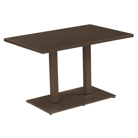 Round twin rectangle dining table