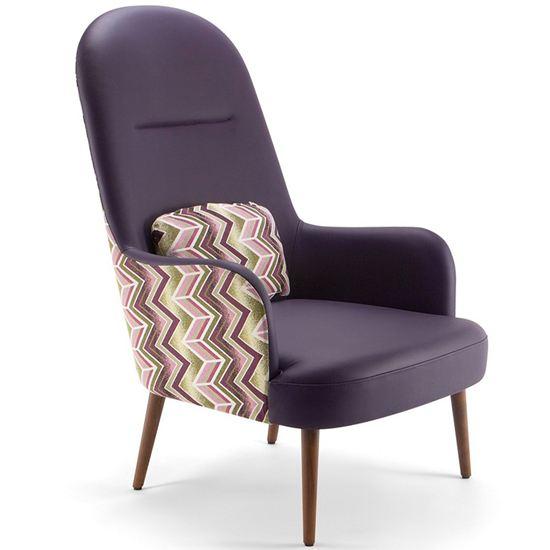 Da vinci high back lounge chair