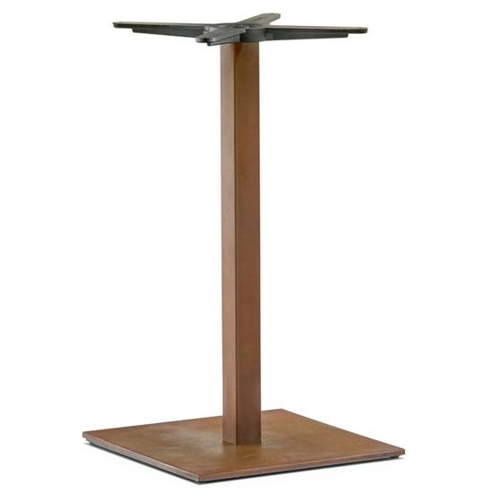 Inox square dining table base