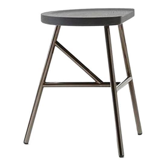 Puccio metal low stool