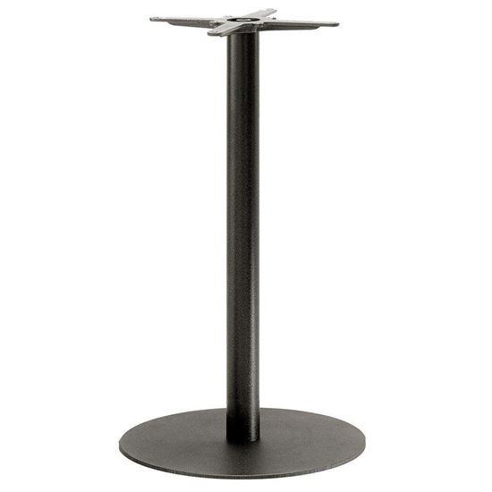 inox round poseur table base