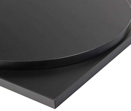 Laminate black table top