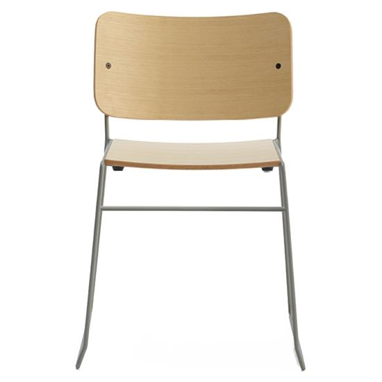 Button side chair wood