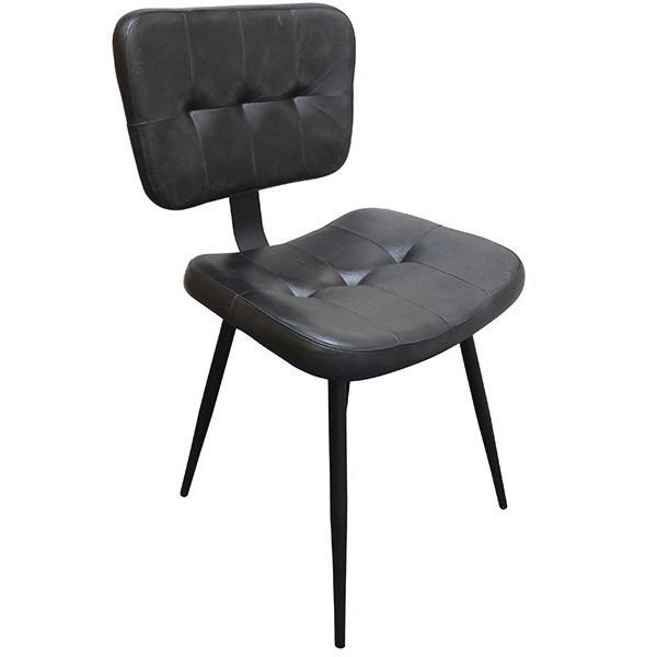 Slim black side chair