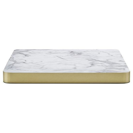 Laminate white marble top, table tops, marble, contract furniture, restaurant furniture, hotel furniture