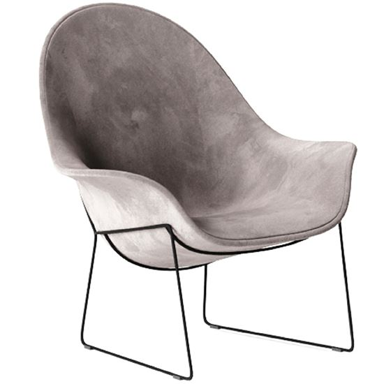 Atticus sled lounge chair