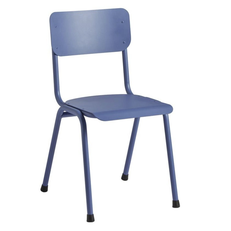 Campus blue side chair