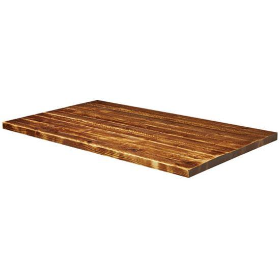 Rustic pine rectangle top