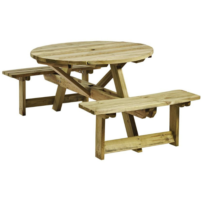 round 4 picnic table, picnic bench, picnic table, outdoor furniture, contract furniture