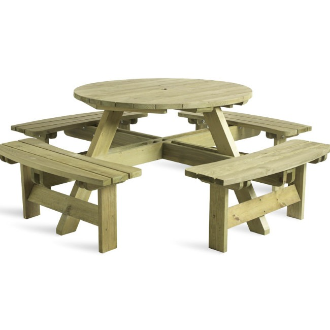 round 8 picnic table